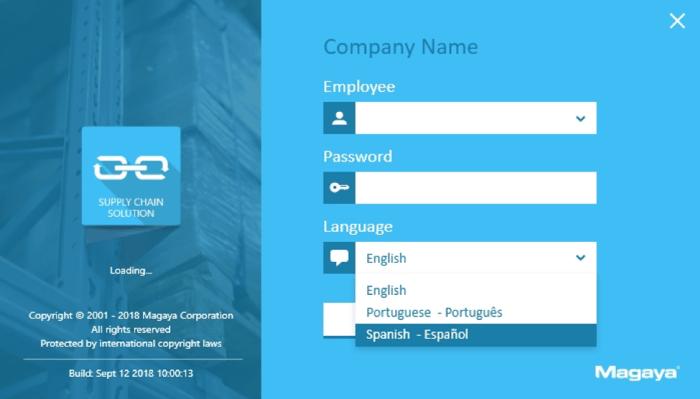 Magaya Supply Chain Solution login screen
